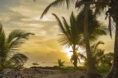 Nascer do sol mexicano do paraíso imagem de stock
