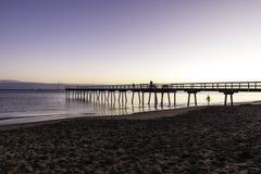Nascer do sol do molhe de Torquay, Hervey Bay, QLD Fotos de Stock