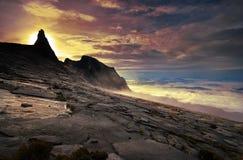 Nascer do sol na cimeira Foto de Stock Royalty Free