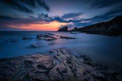 Nascer do sol na costa do Mar Negro Fotografia de Stock Royalty Free