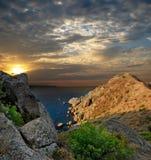 Nascer do sol na Crimeia Fotografia de Stock Royalty Free