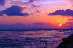 Nascer do sol na entrada Imagens de Stock