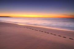 Nascer do sol na entrada dos lagos, Victoria, Austrália Fotografia de Stock Royalty Free