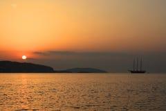 Nascer do sol na Espanha de Ibiza imagens de stock royalty free