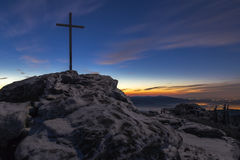 Nascer do sol na grande montanha de Arber Fotos de Stock Royalty Free