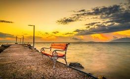 Nascer do sol na ilha de Kos Fotografia de Stock Royalty Free