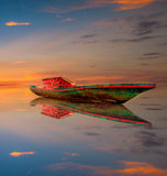 Nascer do sol na ilha de labuan Imagens de Stock Royalty Free