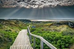 Nascer do sol na ilha de Sylt fotografia de stock royalty free