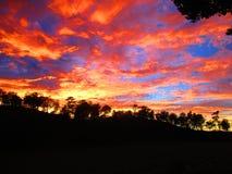 Nascer do sol na montanha de Lawu imagem de stock royalty free
