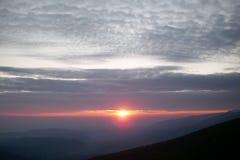 Nascer do sol na montanha 1 de Rila Foto de Stock Royalty Free