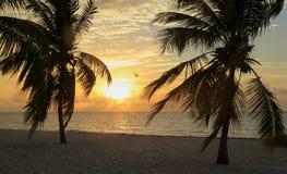 Nascer do sol na passagem da praia de Smathers imagens de stock