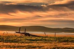 Nascer do sol na pastagem de Hulunbuir Fotografia de Stock