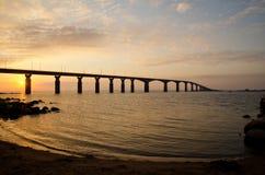 Nascer do sol na ponte Foto de Stock
