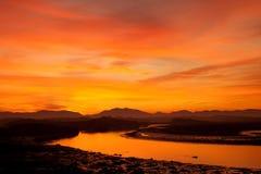 Nascer do sol na ponte de quatro milhas Foto de Stock Royalty Free