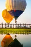 Nascer do sol na ponte de U Bein Imagem de Stock