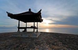 Nascer do sol na praia de Sanur, Bali Fotografia de Stock Royalty Free