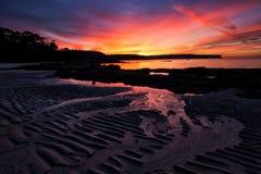 Nascer do sol na praia do Balmoral, Sydney Foto de Stock Royalty Free