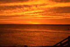 Nascer do sol na praia do inverloch Imagens de Stock