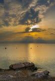 Nascer do sol na praia do urkovo do ½ de Å Imagem de Stock Royalty Free