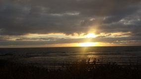 Nascer do sol nas nuvens Fotografia de Stock