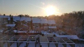 Nascer do sol nevado foto de stock