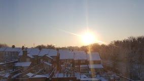 Nascer do sol nevado imagens de stock royalty free