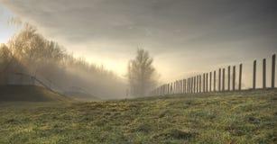 Nascer do sol nevoento Foto de Stock
