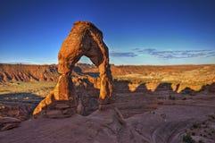 Nascer do sol no arco delicado - Moab, Utá Imagem de Stock Royalty Free