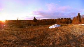 Nascer do sol no assoalho Foto de Stock
