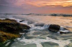 Nascer do sol no Atlântico Fotografia de Stock