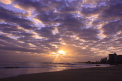 Nascer do sol no beack do pollock Fotografia de Stock