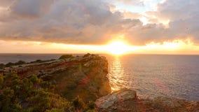 Nascer do sol no cabo de Martinica de Ibiza, Balearic Island fotografia de stock royalty free