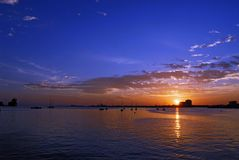 Nascer do sol no corniche Imagens de Stock