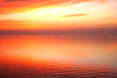 Nascer do sol no Corpus Christi, Texas. Fotos de Stock