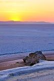 Nascer do sol no deserto imagens de stock
