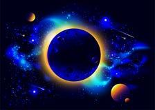 Nascer do sol no espaço Foto de Stock Royalty Free