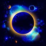 Nascer do sol no espaço Imagens de Stock Royalty Free