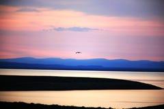 Nascer do sol no lago DaliNuoer Imagens de Stock