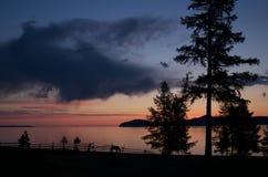 Nascer do sol no lago Hovsgol Imagem de Stock