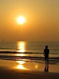 Nascer do sol no litoral Imagens de Stock Royalty Free