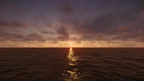 Nascer do sol no mar video estoque