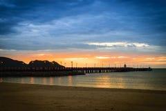 Nascer do sol no mar Fotografia de Stock