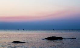 Nascer do sol no mar Foto de Stock