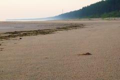 Nascer do sol no mar Báltico, Jurmala, Letónia Fotos de Stock Royalty Free