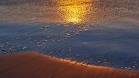 Nascer do sol no mar de Cortes imagem de stock
