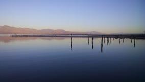 Nascer do sol no mar de Salton imagem de stock royalty free