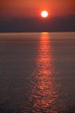 Nascer do sol no mar Mediterrâneo Imagens de Stock Royalty Free
