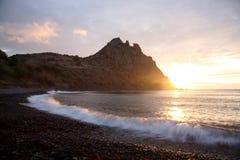 Nascer do sol no Mar Negro Imagem de Stock
