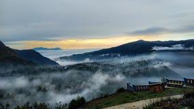 Nascer do sol no parque nacional de Bromo Tengger Semeru fotos de stock royalty free