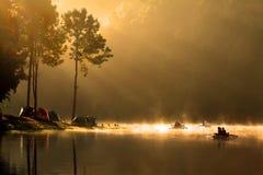 Nascer do sol no parque nacional de Pangung Foto de Stock